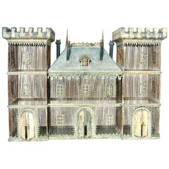 Very Large Zinc Birdcage in the Form of a Castle