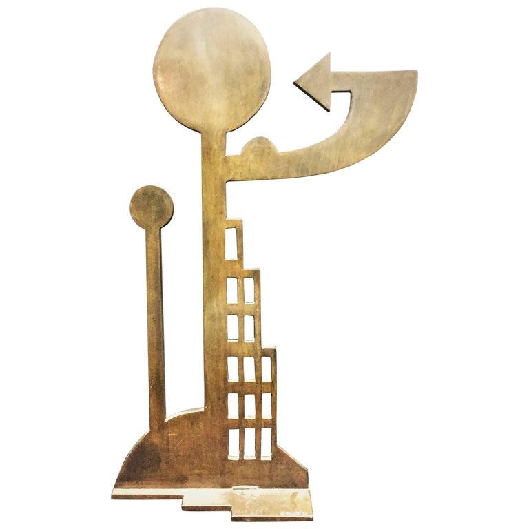 T. Truitt, Modern American Abstract Anodized Iron Sculpture, ca. 1974
