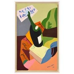 French Painting Still Life with Bottle Ne Pas Toucher Alain Mettais Cartier 1948
