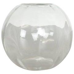 Super Seltene Vintage 1960er Klarglas Turmalin Vase von Wilhelm Wagenfeld für WMF
