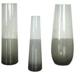 Vintage 1960er Set Dreier Turmalin-Vasen von Wilhelm Wagenfeld für WMF, Deutschland