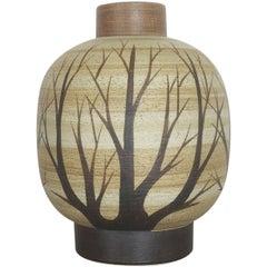 Vintage 1960s Ceramic Pottery Vase by Peter Müller for Sgrafo Modern, Germany