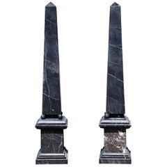 Black Marble Obelisks
