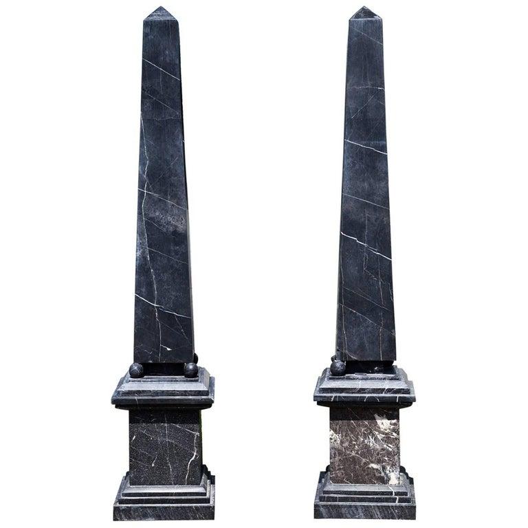Black Marble Buildings : Black marble obelisks for sale at stdibs