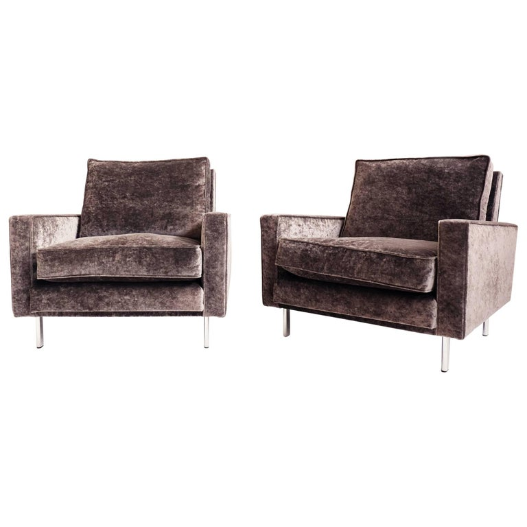 Clean Line Pair Of Armchairs For Sale At 1stdibs