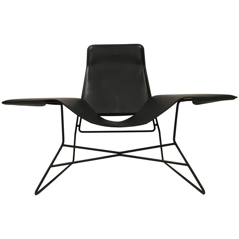 Love Chair Black Modern Lounge Chair For Sale At 1stdibs
