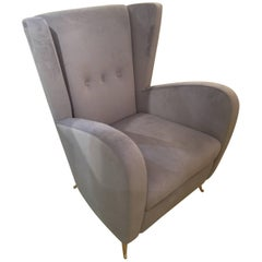 Pair of Italian Armchairs in the Style of Gio Ponti