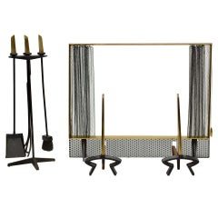 Donald Deskey Complete Fireplace Set