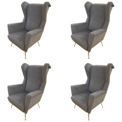 Four Armchairs Style of Gio Ponti