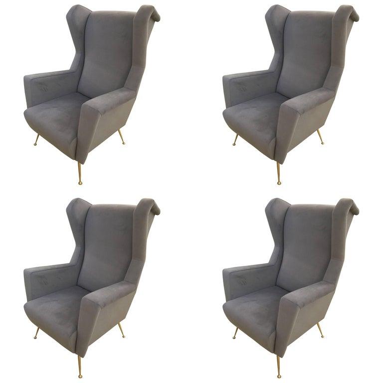 Four Armchairs Style of Gio Ponti