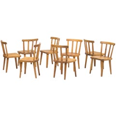"Set of Eight ""Uto"" Chairs by Axel Einar Hjorth, Nordiska Kompaniet, Sweden, 1930"