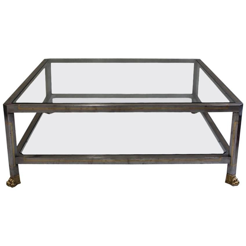 Brutalist Steel Coffee Table, Circa 1950, France For Sale At 1stdibs