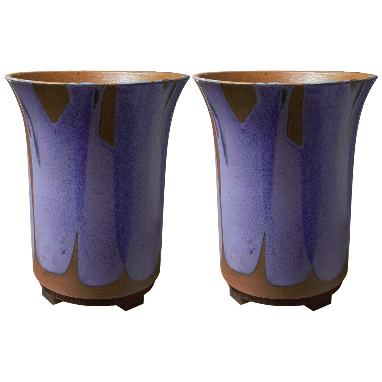 Purple Flame, Glazed Indoor Planters by David Cressey