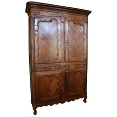 19th Century French Louis XV Cherry Armoire Pantalonniere from Provence