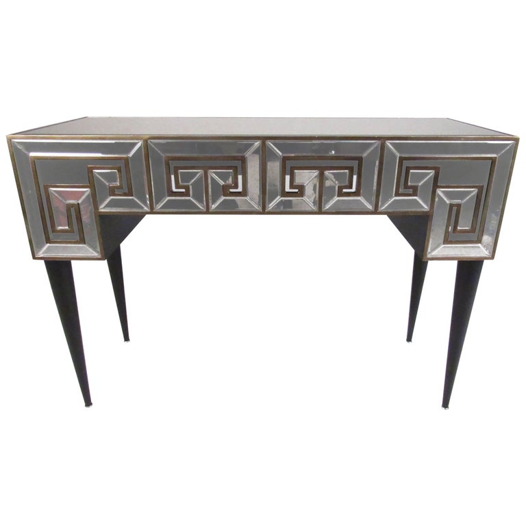 Stylish Decorator Hall Table with Mirrored Finish