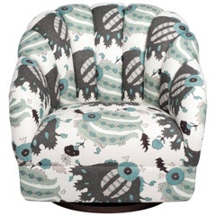 Ward Bennet Barrel Back Swivel Chair