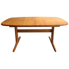 Danish Solid Oak Extendable Dinning Table