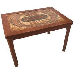 Danish Teak Tile-Top Table