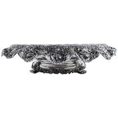 Rare Antique Tiffany Centrepiece Bowl with Wonderful Wild Flowers