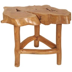 Homemade Tree Slab Table / Stool