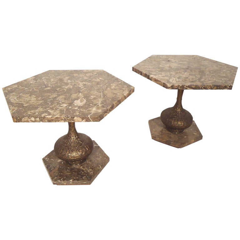 Marble-Top Side Tables