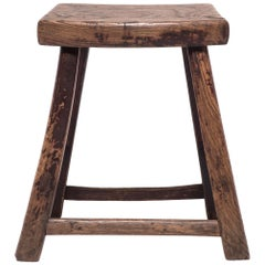 Chinese Primitive Tapered Leg Stool