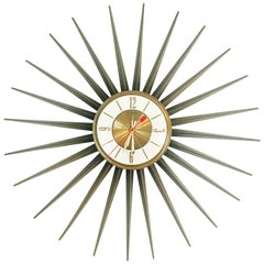 Elgin Sunburst Clock, circa 1950