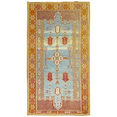 Vintage Sky Blue Moroccan Rug