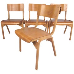 Set of Vintage Modern Bentwood Student Chairs