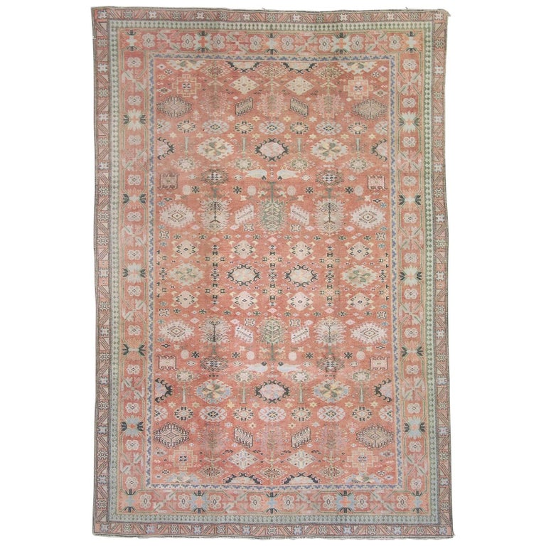 Fine Antique Cotton Agra Rug, Circa 1920 For Sale At 1stdibs