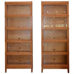 Barrister's Bookcase in Maple and Glass by Hale, 1950