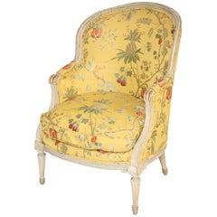 Antique Louis XVI Style Painted Bergere