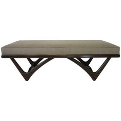 Adrian Pearsall Styled Upholstered Sculptural Bench