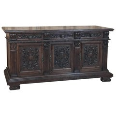 19th Century Italian Walnut Renaissance Buffet