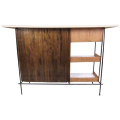 Vintage Modern Slat Bar by Arthur Umanoff for Raymor