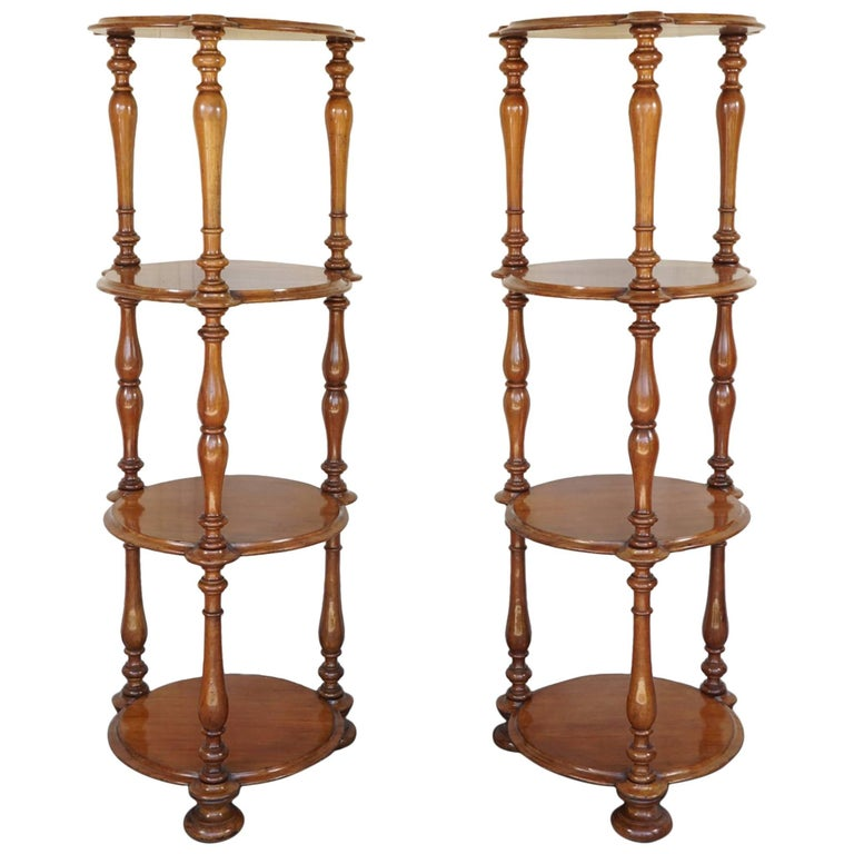 Pair of 19th Century English Mahogany Early Victorian Étagère's