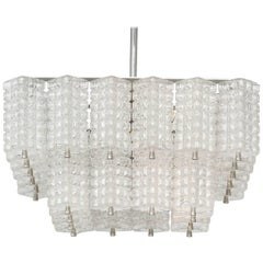 Austrolux Two-Tier Glass Chandelier