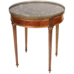 Louis XVI Mahogany Marble-Top Bouillotte Table