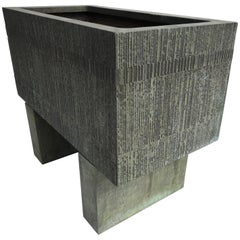 Forms and Surfaces Bronzed Fiberglass Planter with Optional Pedestal Legs