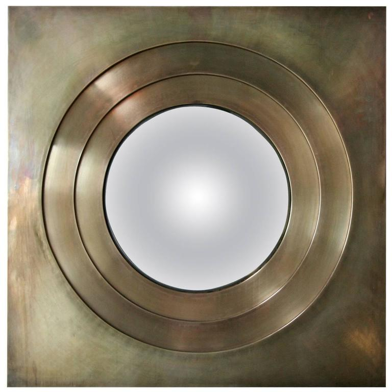 Brass Convex Mirror For Sale