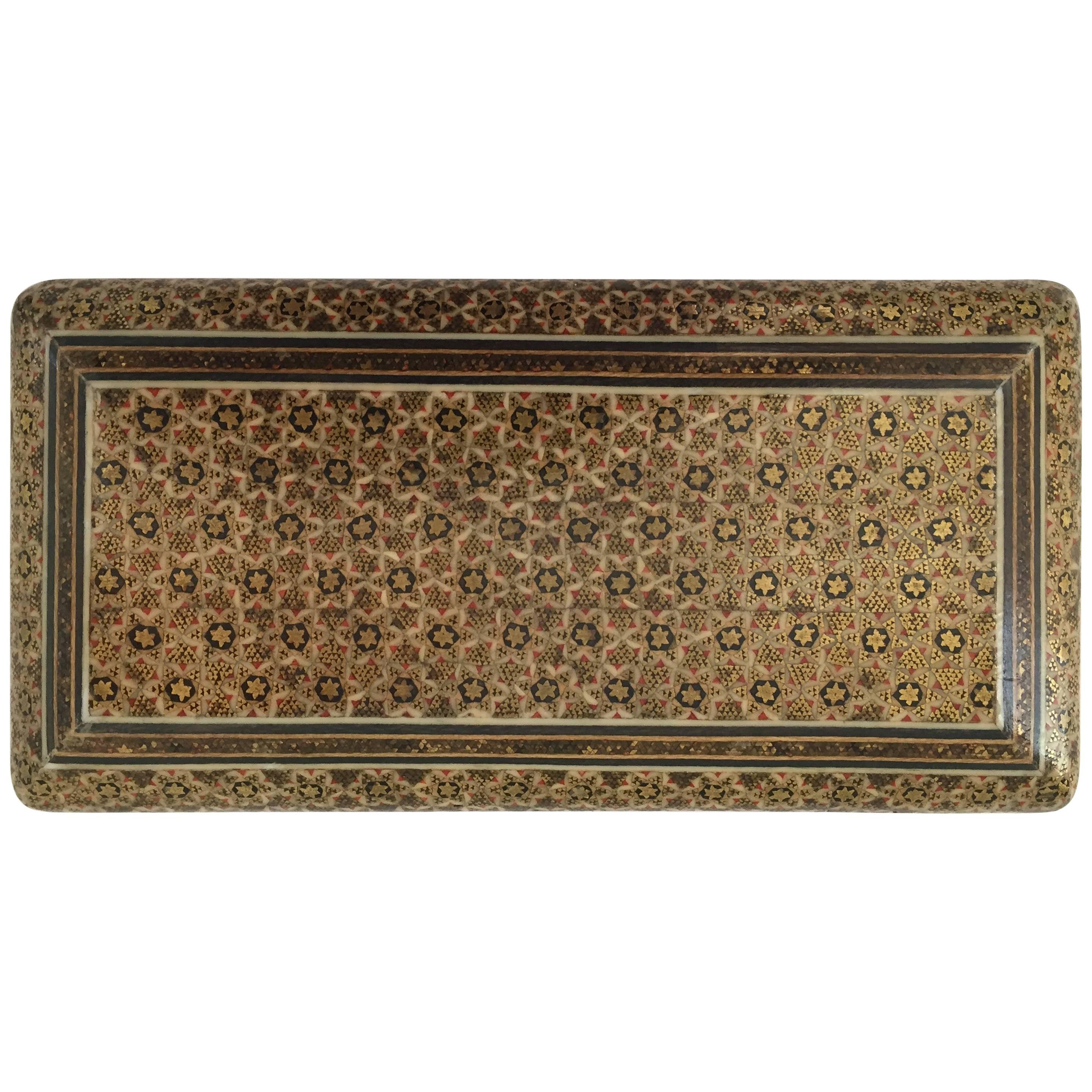 Persian Khatam Micro Mosaic Jewelry Box For Sale at 1stdibs