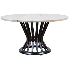 Sheaf of Wheat Marble Coffee Table by Edward Wormly for Dunbar