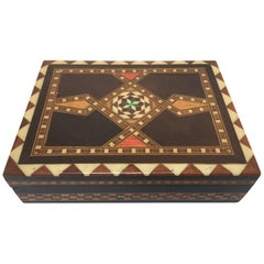Middle Eastern Syrian Inlaid Marquetry Mosaic Box