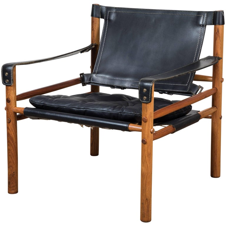"""Rosewood """"Sirocco"""" Safari Chair by Arne Norell For Sale"""