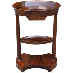 Period Charles X Vide Poche or Dished Occasional Table