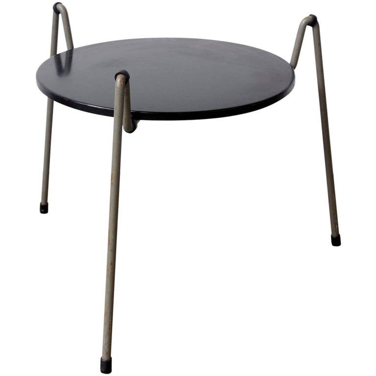 1953, Wim Rietveld, Mug Steel Coffee Table for Gispen Holland