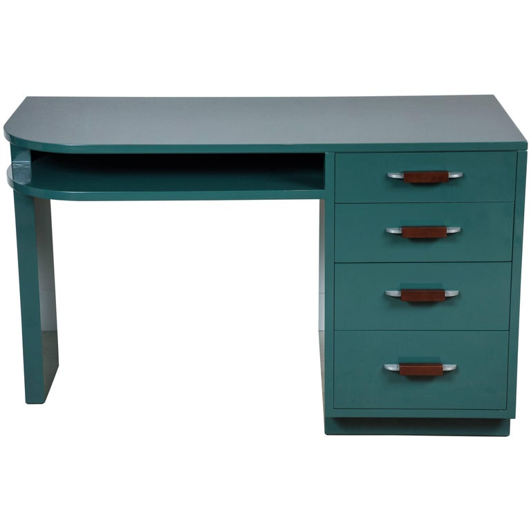 Lacquered Desk by Eliel Saarinen for Johnson Furniture Co 1