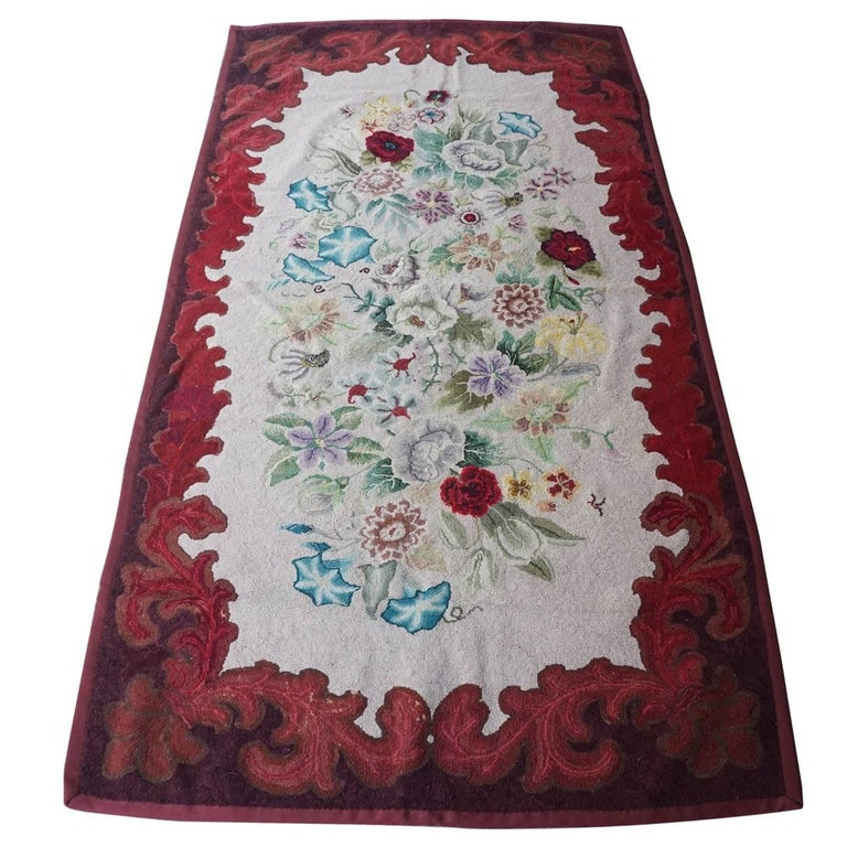Late 19th Century American Hooked Rug from the Estate of Bunny Mellon For Sale