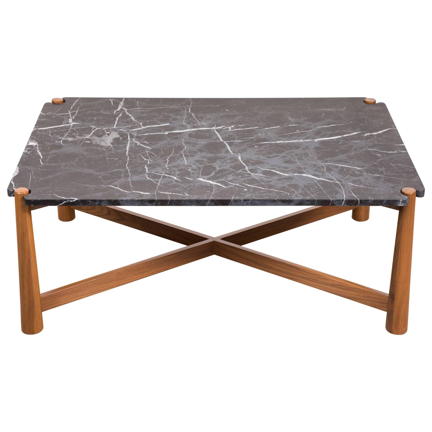 Bronson Coffee Table with Bronzetto Stone Top by Lawson Fenning