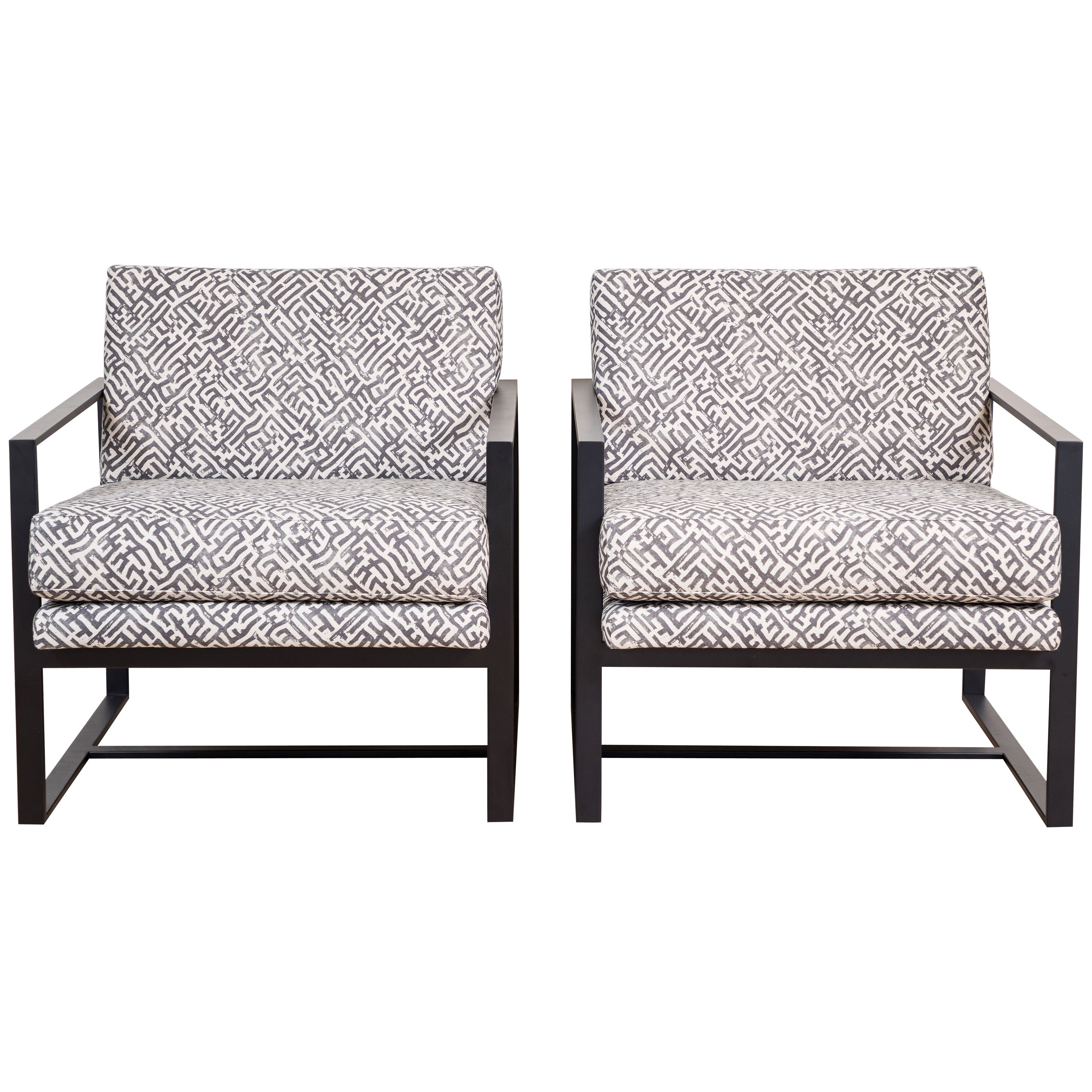 Pair of Box Chairs by Lawson-Fenning